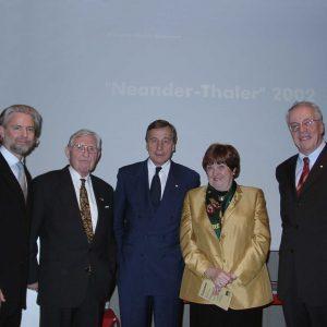 Preisträger und Laudatoren nach der Verleihung des Neander - Thalers